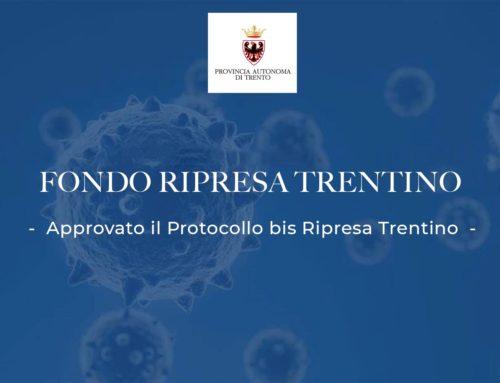 Approvato il Protocollo bis Ripresa Trentino