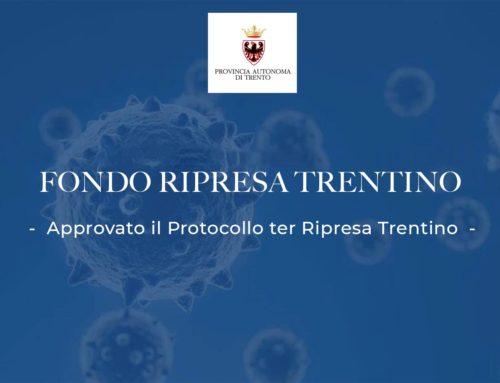 Approvato il Protocollo ter Ripresa Trentino